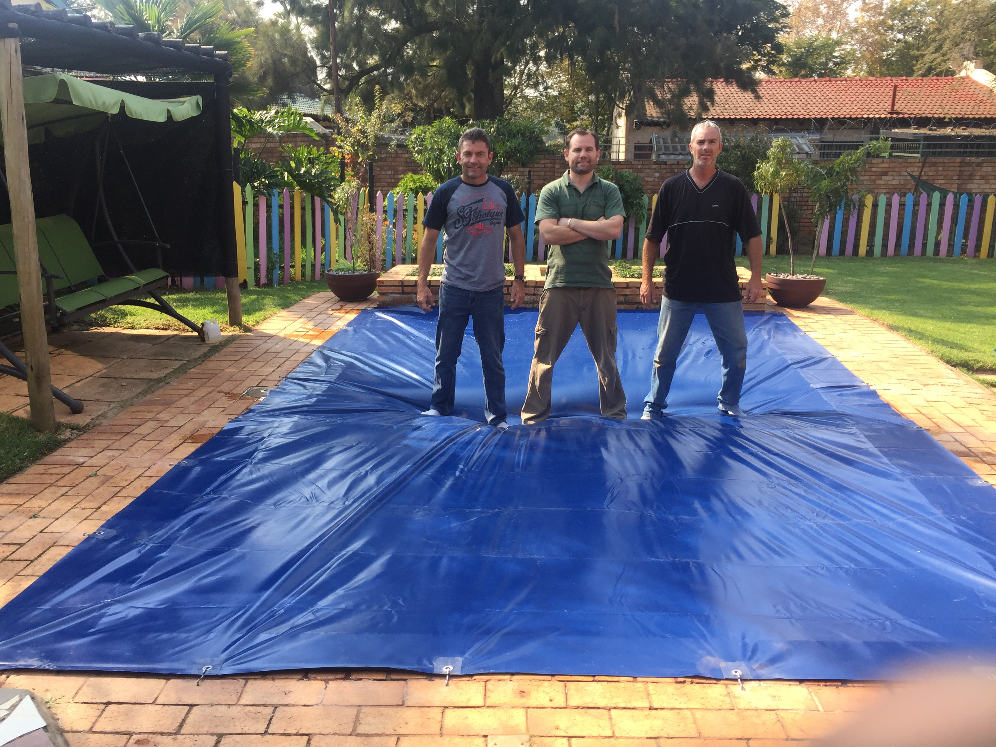 Tarps For Africa Pool Cover Install